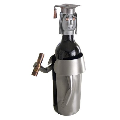 H & K SCULPTURES Female Graduate Wine Caddy