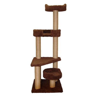 "Family Cat 60"" Cat Tower with Skylookout and Lounger"