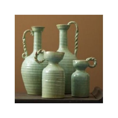 Tozai Globetrotter Celadon Pitcher Vases (Set of 4)