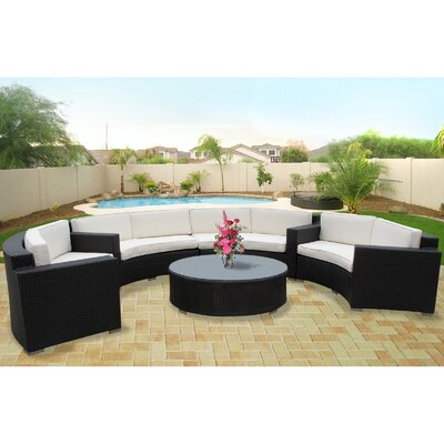 Modway Veranda 5 Piece Sectional Deep Seating Group with Cushions