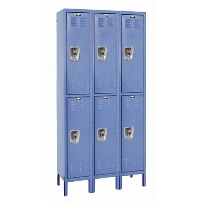 Hallowell ReadyBuilt Locker Double Tier 3 Wide (Assembled)