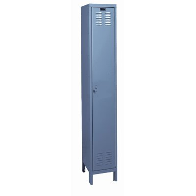 Hallowell ValueMax One Wide Single Tier Locker in Hallowell Gray (Assembled)