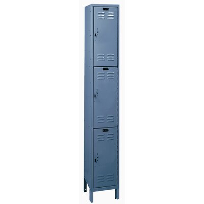 Hallowell ValueMax One Wide Triple Tier Locker in Hallowell Gray (Assembled)