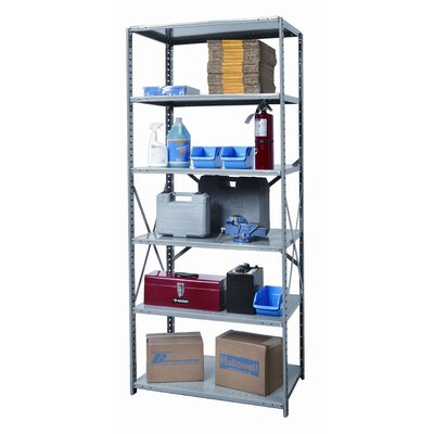 Hallowell Hi-Tech Shelving Medium-Duty Open Type Starter Unit with 6 Shelves
