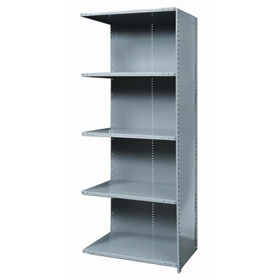 Hallowell Hi-Tech Shelving Heavy-Duty Closed Type Add-on Unit with 5 Shelves