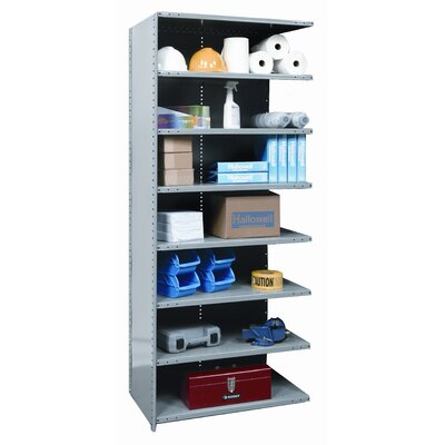 Hallowell Hi-Tech Shelving Medium-Duty Closed Type Add-on Unit with 8 Shelves