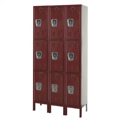 Hallowell Premium Locker Triple Tier 3 Wide (Knock-Down)