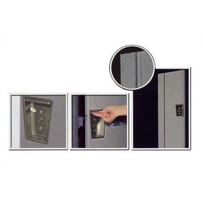 Hallowell Maintenance-Free Quiet Stock Lockers - Single Tier - 3 Sections (Assembled)