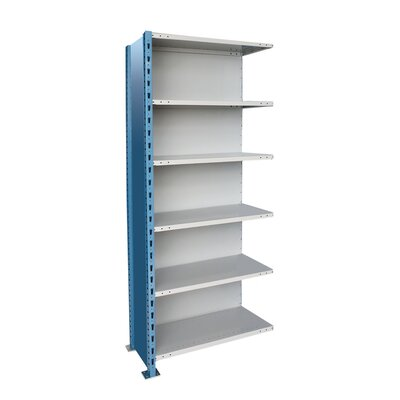 Hallowell H-Post High Capacity Shelving 6 Adjustable Shelves Add-on Unit Closed Style