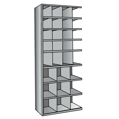"Hallowell Hi-Tech Metal Bin Shelving Add-on Unit (16) 9"" W x 9"" H, (4) 9"" W x 12"" H, (9) 12"" W x 12"" H Bins"