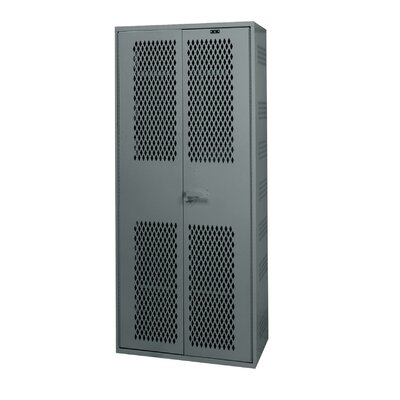 Hallowell TA50 Equipment Storage 1-Wide Single Tier All-Welded Double Door Locker with Base / Drawer