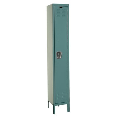 Hallowell Premium 1-Wide Single Tier Locker (Unassembled)