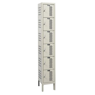 Hallowell Heavy-Duty Ventilated Locker 6 Tier 1 Wide (Assembled)