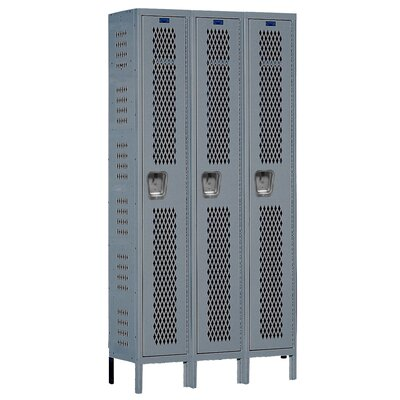 Hallowell Heavy-Duty Ventilated 3-Wide Single Tier Locker (Unassembled)