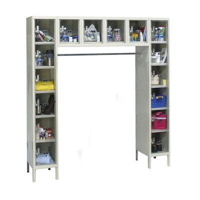 Hallowell Safety-View Plus 1-Wide 16-Person Locker (Unassembled)