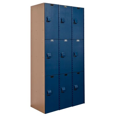 Hallowell AquaMax Plastic Locker Triple Tier 3 Wide (Assembled)