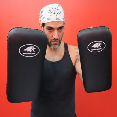 Lion Martial Arts Thai Kicking Pad in Black