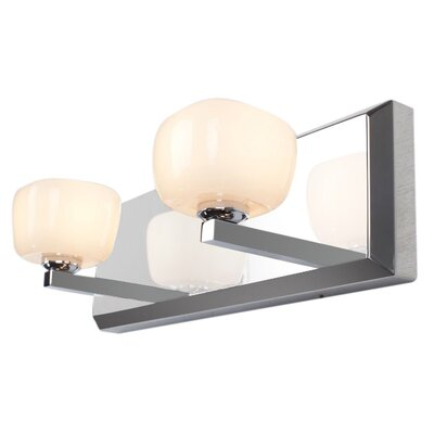 Alternating Current Opaltine 2 Light Bath Wall Sconce