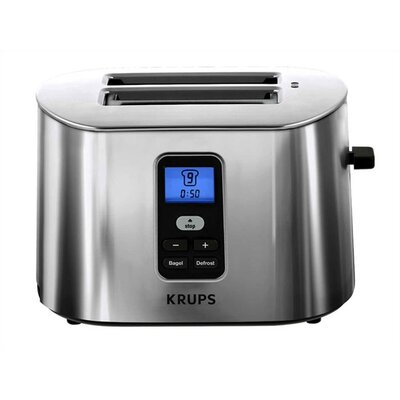 Krups 2 Slice Digital Toaster in Brushed Stainless Steel