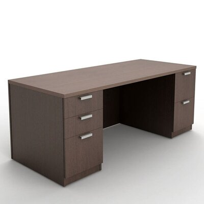 Steelcase Currency Double Pedestal Executive Desk