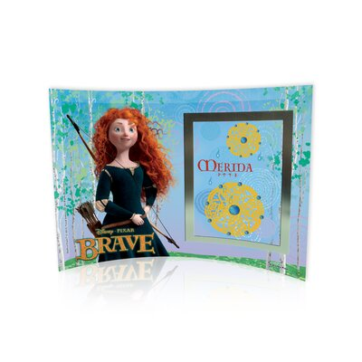Trend Setters Brave (Merida) Curved Glass Print with Photo Frame