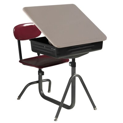 WB Manufacturing Quick Ship Universal Lift Lid Chair Combo Desk