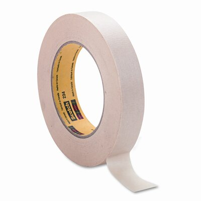 3M General-Purpose Masking Tape, 1&quot; x 60 Yards, 3&quot; Core, Natural                                                                