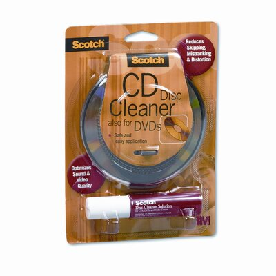 3M Scotch CD/DVD Disc Cleaner Wipes and Spray Bottle Solution