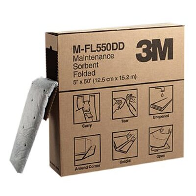 "3M High-Capacity Maintenance Folded Sorbents - 5""x50' folded maintenance sorbent 3boxes/case"