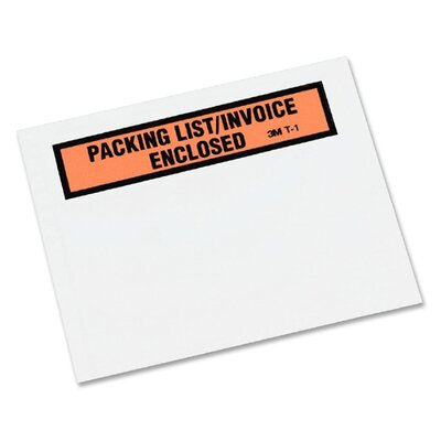 "3M Envelopes W/""Packing List/Invoice Enclosed"" Printed, 100/BX"