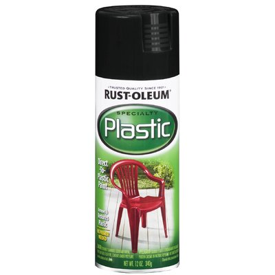 Rustoleum 12 Oz Black Plastic Spray Paint Gloss