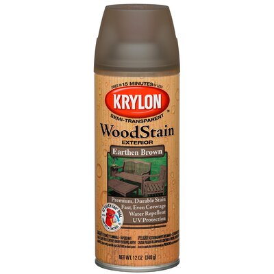 Krylon 12 Oz Earthen Brown Transparent Exterior Wood Stain Semi
