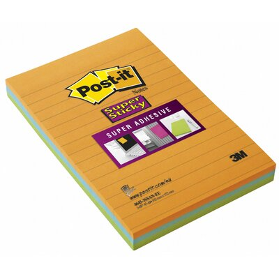 3M 4&quot; x 6&quot; Assorted Colors Sticky Post-it Note