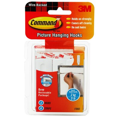 3M Command Wire Picture Hanging Hook (3 Count)