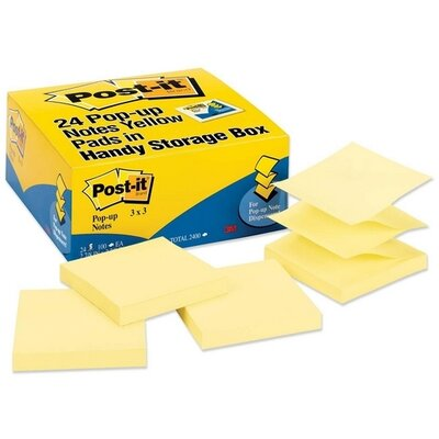 3M Post-it Value Pack Original Pop-ups Notes (24 Per Pack)