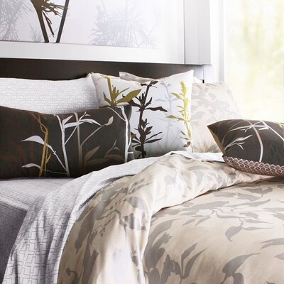 Inhabit Morning Glory Organic Bedding Collection in Silver