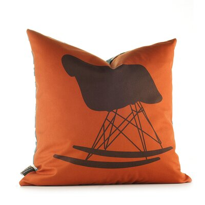 Inhabit Modern Classics Pillow in Rust and Cornflower