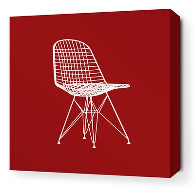 Inhabit Modern Classics 1951 Stretched Wall Art in Scarlet and Chocolate
