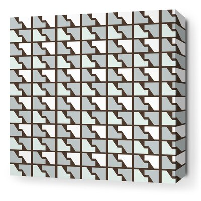 Inhabit Estrella Faux Houndstooth Stretched Wall Art in Cornflower