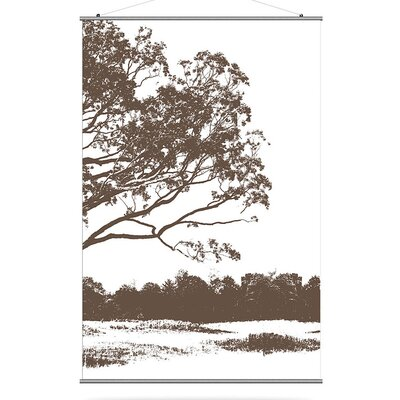 "Inhabit Morning Glory 48"" x 72"" Tree 2 Slat in Chocolate"