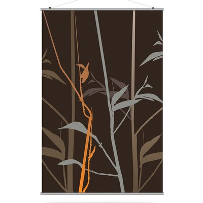 Inhabit Morning Glory Tall Grass Slat in Charcoal and Rust