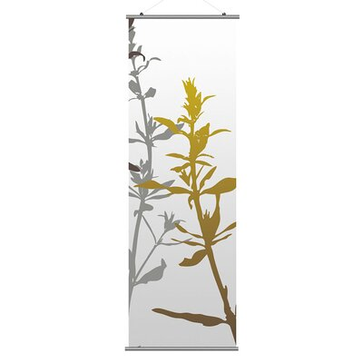 Inhabit Morning Glory Wildflower Slat in Silver and Olive 3