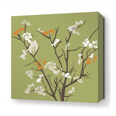 Inhabit Ailanthus Stretched Wall Art in Grass / Sunshine