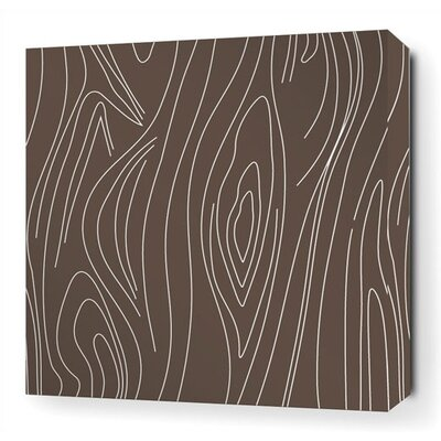 Inhabit Madera Stretched Wall Art in Chocolate