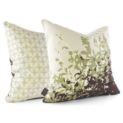 Inhabit Foliage Throw Pillow in Grass