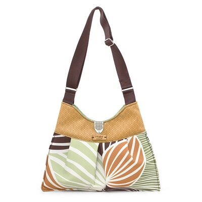 Inhabit Kennedy Leaf Handbag in Grass / Butterscotch