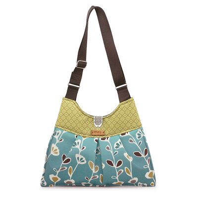 Inhabit Kennedy Stencil Handbag in Aqua