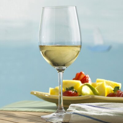 Wine Enthusiast Indoor/Outdoor Chardonnay Wine Glasses (Set of 4)