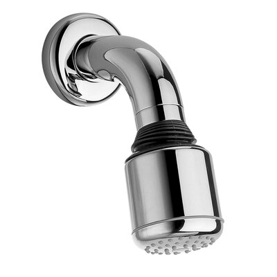 Jewel Faucets Jewel Shower Series Adjustable Anti Lime Shower Head with Cast Brass Shower Arm