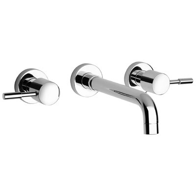 J16 Bath Series Two Handle Wall Mount Bathroom Faucet with Controls and Spout - 16207 ...